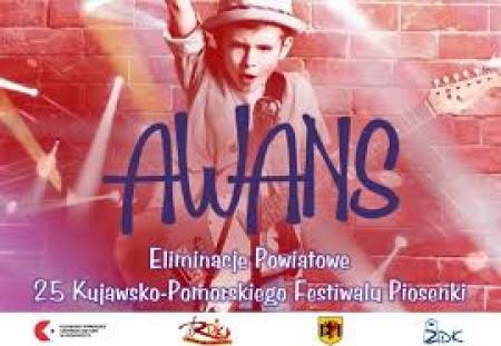 """Eliminacje powiatowe 25 Kujawsko – Pomorskiego Festiwalu Piosenki """"Awans"""""""