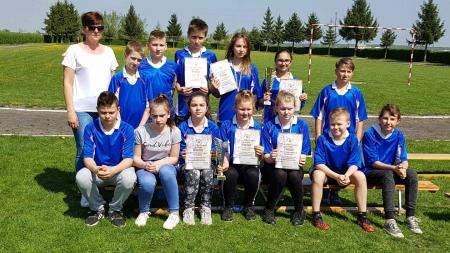 XI Gminne Igrzyska w Lekkiej Atletyce Dziewcząt i Chłopców w Okalewie