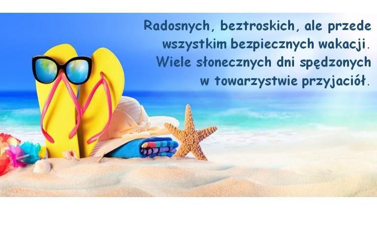 Życzenia wakacyjne - Szkoła Podstawowa w Skudzawach