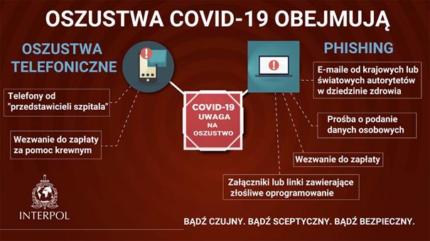 Oszustwa Covid-19 - ulotka z NASK
