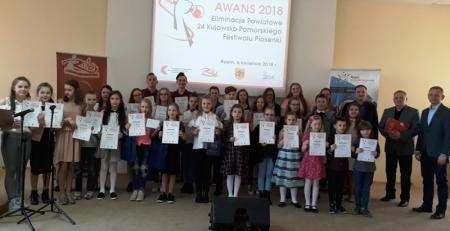 """Eliminacje powiatowe 24 Kujawsko – Pomorskiego Festiwalu Piosenki """"Awans 201"""