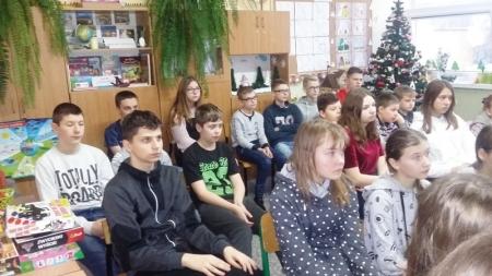 Spotkanie z przedstawicielami  Szkolnego Koła Wolontariatu z Zespołu Szkół w